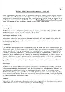 Mediterranean diseases and parasites report