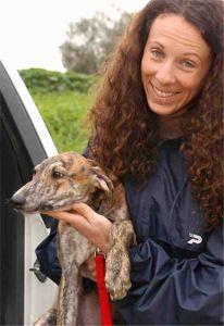 Galgo puppy with Halie
