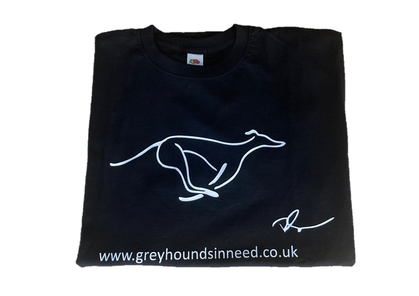 Ricky Gervais designed t-shirt for Greyhounds in Need
